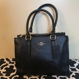 Coach black Crosby carryall satchel bag🖤